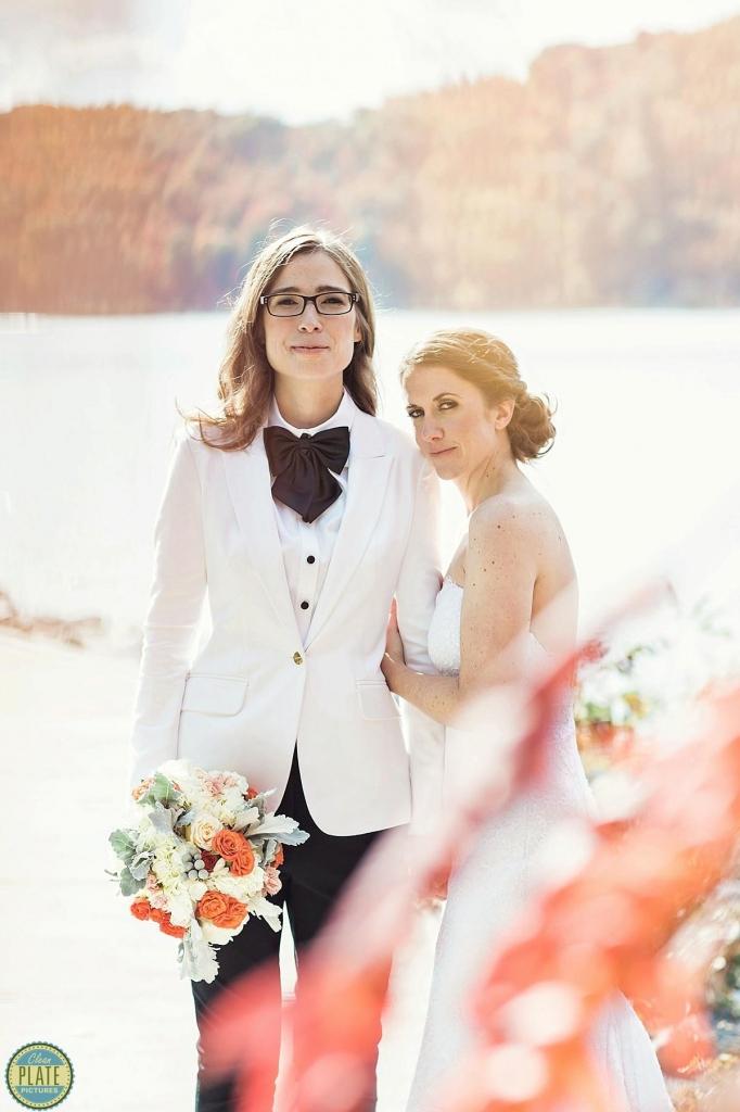 Wedding Couple on the Hudson River Poughkeepsie