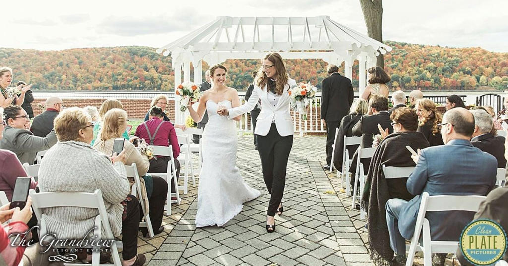 Another Beautiful Wedding Ceremony at The Grandview in Poughkeepsie NY