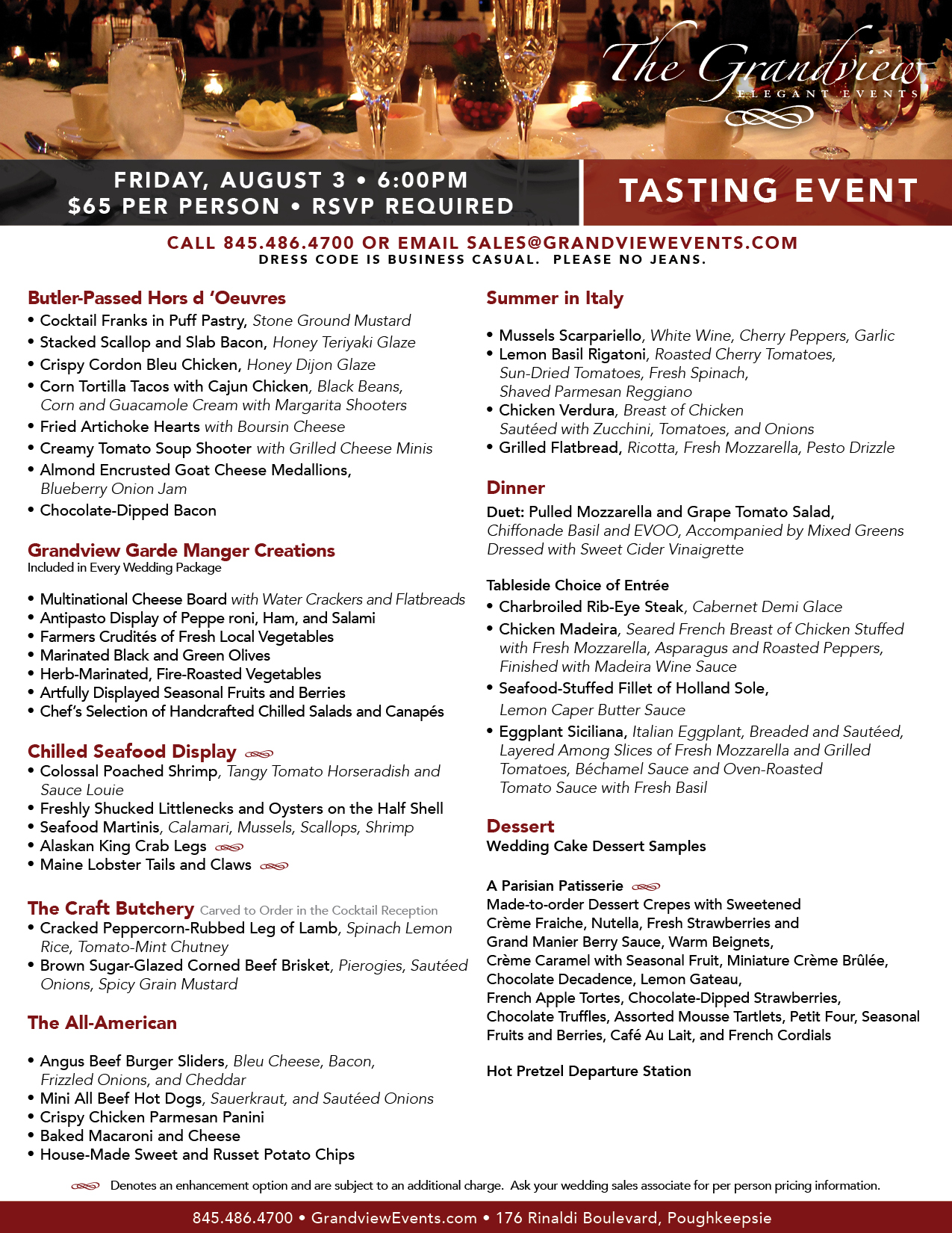 The Grandview Tasting Event Poughkeepsie