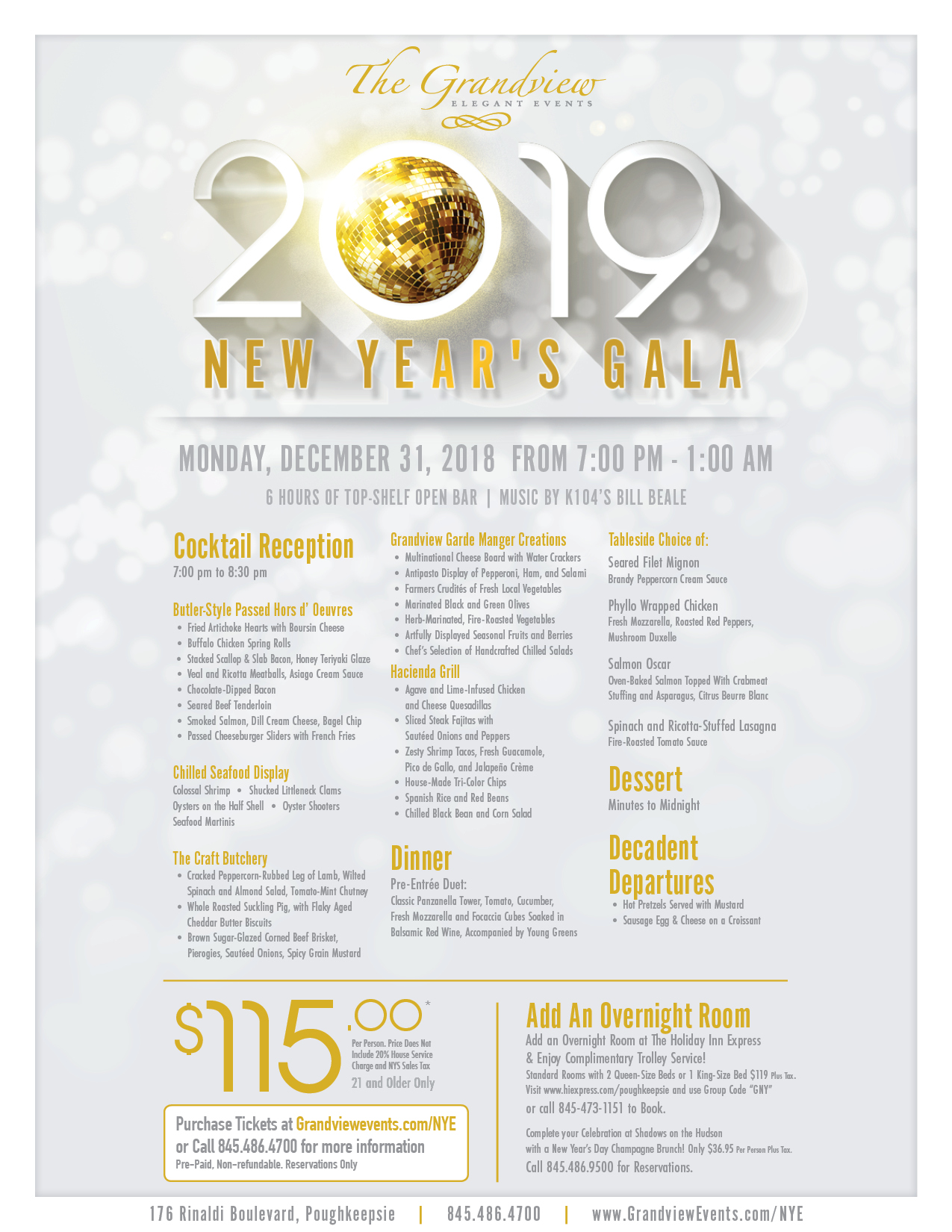 new years 2019 at the grandview